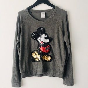 Mickey Mouse Sequin Embellished Sweater NWOT
